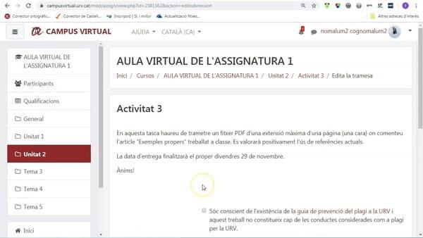 Campus virtual URV