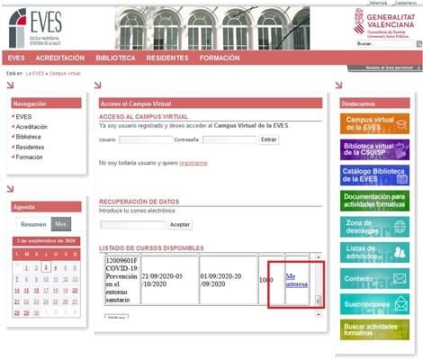 campus virtual eves